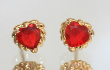Heart Yellow Gold 18 Carat Fine Earrings