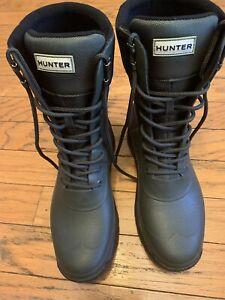 Men's Hunter Balmoral Combat Boot, size 10 hunter green