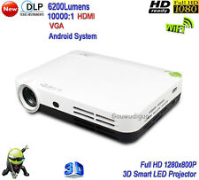 2018 New DLP WiFi 6200 Lumens 3D Projector Full HD 1080P Home Theater Projector