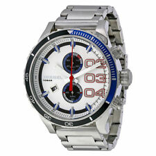 Diesel Chronograph White Dial Stainless Steel Mens Watch DZ4313