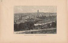 Ansicht von Freiburg im Uechtland Fribourg Friburgo DRUCK von 1895 Schweiz