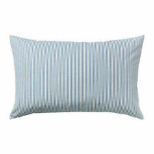 Ikea REMVALLEN 16 x 26 Inches Cushion cover cotton polyester blue white