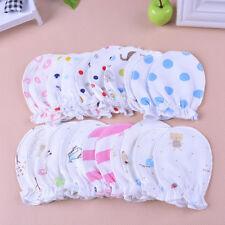 2 pair Baby Newborn Unisex Cute Warm Mitten Cotton Anti Scratch Breathable Glove