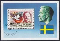 Niger Nobel Prize Theodor Roosevelt Block 1977, Gest History, Used