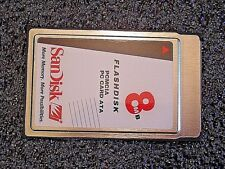 SanDisk PCMCIA 8MB Flash Memory Card ATA   SDP3B Warranted