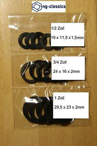 15 Stück (Set) FLACHDICHTUNG Gummidichtung 1/2, 3/4, 1 Zoll  EPDM
