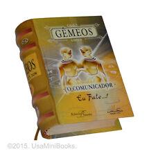 Gemeos, O comunicador miniature book in portuguese hardcover signo do zodíaco