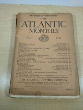 May 1920 ATLANTIC MONTHLY MAGAZINE ADVERTISING William Beebe Marianne Gauss +