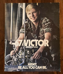 "U.S. Army 67 VICTOR HELICOPTER REPAIR Poster 1983  USA Military16"" X 20"""