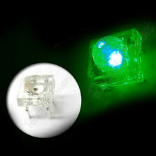 100 5mm Superflux Piranha Green LED 17000mcd Super flux