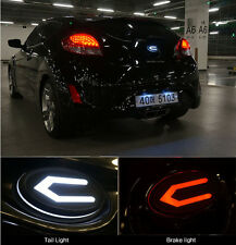 Front Radiator Rear Trunk Concepto 3D LED Emblem For 2011~2014+ Hyundai Veloster