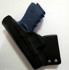 HANKS GUN LEATHER IWB TUCKABLE HOLSTER FITS GLOCK  19/23/32