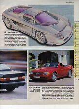 Z41 Ritaglio Clipping 1991 Mercedes Benz Prototipo C112 - SL 600 GT