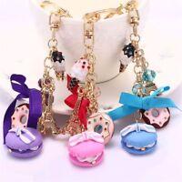 Gift Rhinestone Eiffel Tower Jewelry Gift Key Chains Bag Decoration Pendant