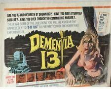 DEMENTIA 13 - Francis Ford Coppola 1963 22 x 28 Rare Poster