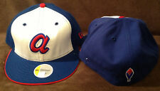 Atlanta Braves MLB NEW ERA 59FIFTY Fitted Hat Red/White/Blue Mens Size 7 5/8