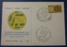FIL. CARD - NUM. NAZIONALE ATLETICA LEGGERA C.S.I. - UDINE 1977