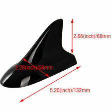 Car Shark Fin Roof Antenna Aerial Top Mount Decorative Black Universal ABS
