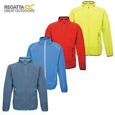 Regatta Mens Ashmore Micro Fleece Full Zip Jacket Coat High Vis Pockets Outdoor
