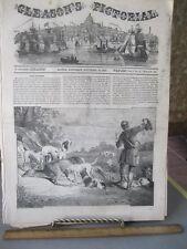 Vintage Print,DEER HUNTING,Gleasons,1853