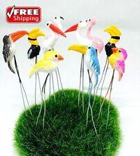 10 Pcs.Tiny Mix Bird Miniature Animal Pick Decorate Mini Fairy Garden