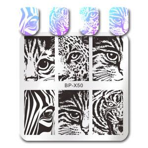 BORN PRETTY Nail Stamping Plates Cat Tiger Leopard Eye Nail Art Image Templates