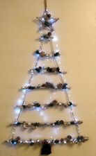 "Quality 49"" White/Silver Hanging Ladder Christmas Tree 100 White LED Lights"