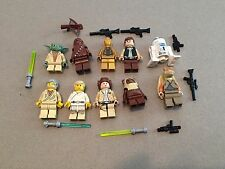 LEGO lot of 10 Star Wars Good Guy Minifigs Yoda Luke Leia Han R2-D2 Chewie K306