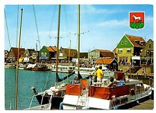 Volendam Holland Postcard Netherlands Boats Water Vintage Unposted