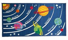 Childrens Rugs Matrix Kiddy Planets Washable Multi Play Mat/Rug - 80 x 120 cms