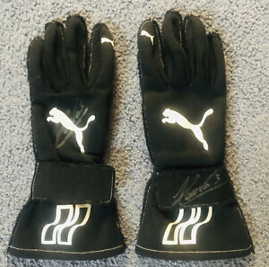 Helio Castroneves Signed Race Worn Gloves
