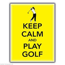 Keep Calm and Play Golf Golf Metallo Segno Piastra a parete Stampa Poster Foto
