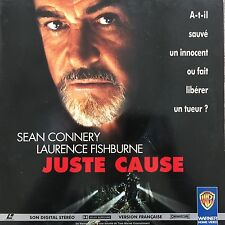 JUSTE CAUSE WS VF PAL LASERDISC Sean Connery, Laurence Fishburne, Kate Capshaw