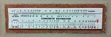Concrete Slide Ruler Lot of 3pcs 100 Yard Volume Calculator MADE IN USA!!!!
