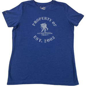 Under Armour Wounded Warrior Project Women's S/S T-Shirt Royal Blue • Medium