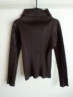 issey miyake pleats please tops size 3 made in japan NEAR MINT F/S brown RARE