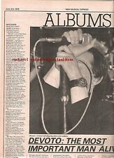 MAGAZINE Real Life 1978 full page album review UK ARTICLE / clipping