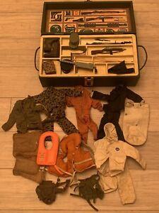 Vintage 1964 Hasbro GI Joe Action Soldier  Foot Locker and Accessories