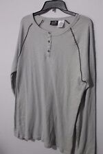 New Men's The Raw Uncut Gray Henley Size Large