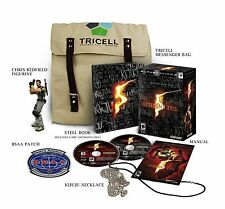 Resident Evil 5 Collector's Pack Edition Steelbook statue bag patch necklace