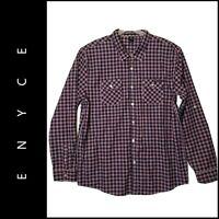 Enyce Men Button Front Plaid & Check Dress Shirt Long Sleeve Size 6X Nwot
