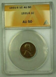 1931-S Lincoln Wheat Cent 1c ANACS AU-50 (G) (WW)