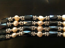 "Magnetic Gemstone & Crystal Bracelet / Necklace   39"" long    Brand New"