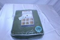 Solid Thermal Insulated Blackout Curtains Olive Antique Bronze Grommet 2 Panels