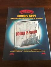 1978 Vintage 8X11 Album Print Ad Casablanca Records Honors Kiss Double Platinum