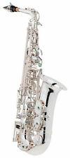 Traumhaftes Alt-Saxophon aus versilbertem Messing mit Leichtkoffer und Mundstück