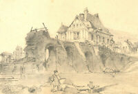 Set of Six Early 20th Century Graphite Drawings - Rural Architectural Studies