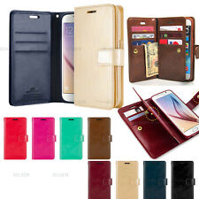 Double Flip Leather Wallet Card Book Case Cover For iPhone X 8 Plus/Galaxy S9 S8