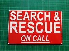 Búsqueda y rescate en llamada dashcard de llamada de emergencia fuera RNLI HM Guardacostas 4X4
