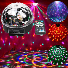 6 COLOR CRYSTAL MAGIC BALL DMX512 LED STAGE LIGHTING PARTY DISCO LASER LIGHT 18W